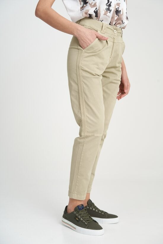 Женские светлые брюки-чинос Aeronautica Militare 4117