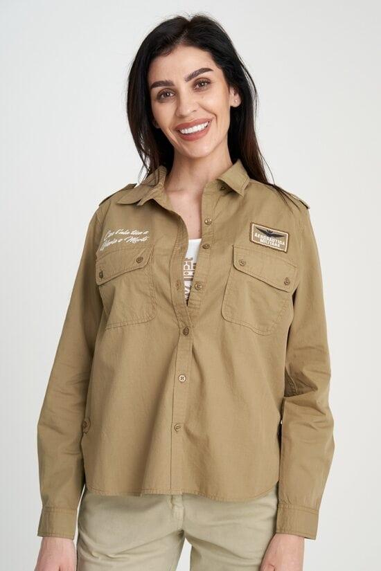 Женская рубашка с нашивками Aeronautica Militare 4120