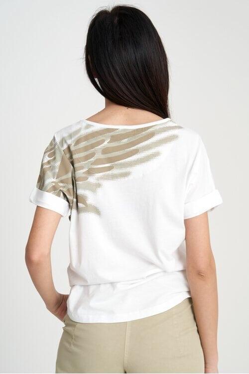 Женская белая футболка с крыльями Aeronautica Militare 4137