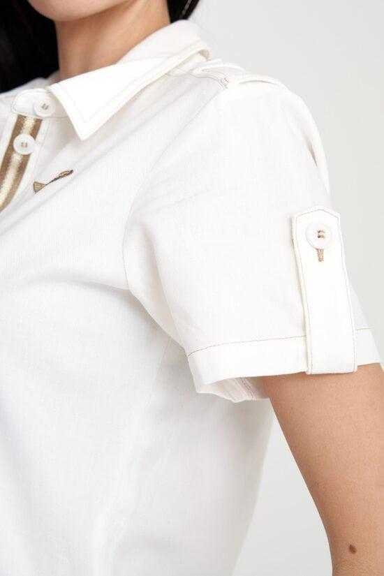 Белый комбинезон с вышивкой Aeronautica Militare 4138