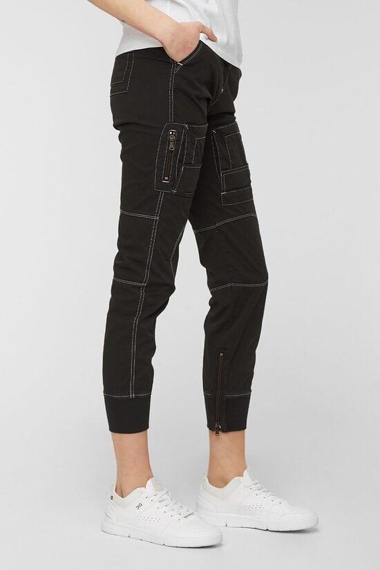 Женские черные штаны Aeronautica Militare 4163