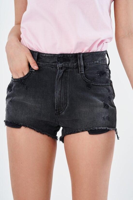 Джинсовые черные шорты Miss Sixty 4004