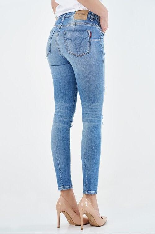Оригинальные женские джинсы с порванностями Miss Sixty 4007