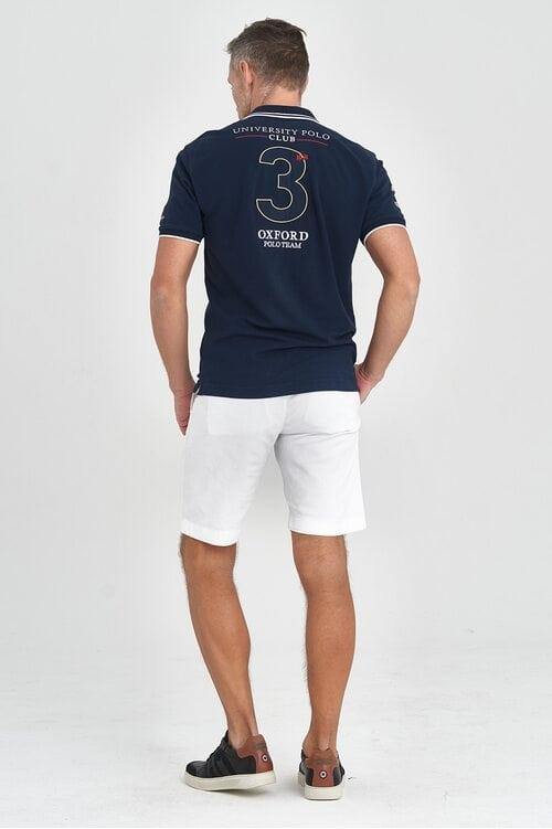 Темно-синяя футболка Oxford La Martina 1128
