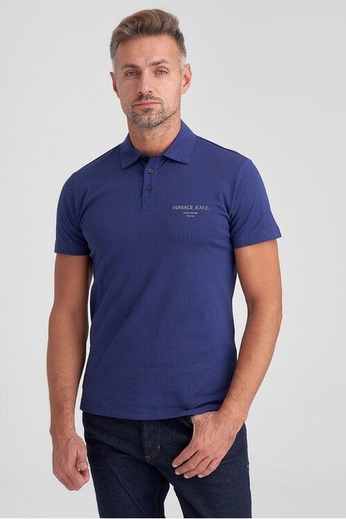 Синяя футболка Поло Versace Jeans 1613