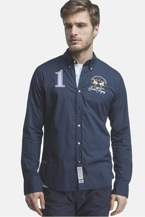 "Темно-синяя рубашка ""Saint Tropez"" La Martina 1117"