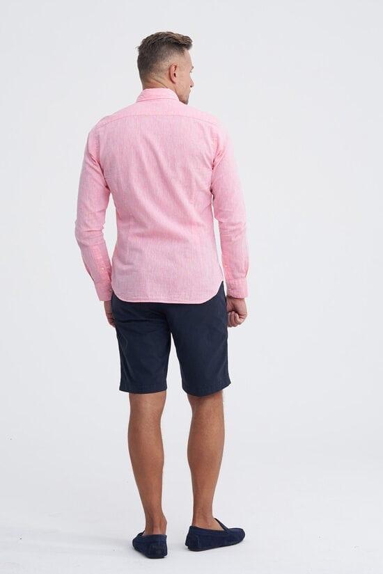Легкая розовая рубашка La Martina 1118